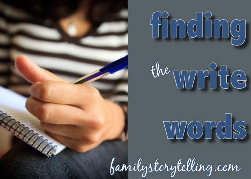 writing stories family storytelling