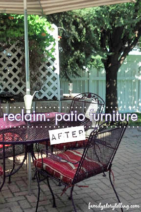 Family Storytelling, Patio Furniture DIY, Summertime