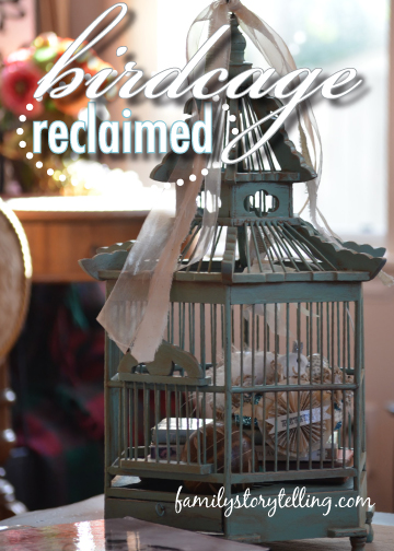 Family Storytelling, DIY Birdcage Craft