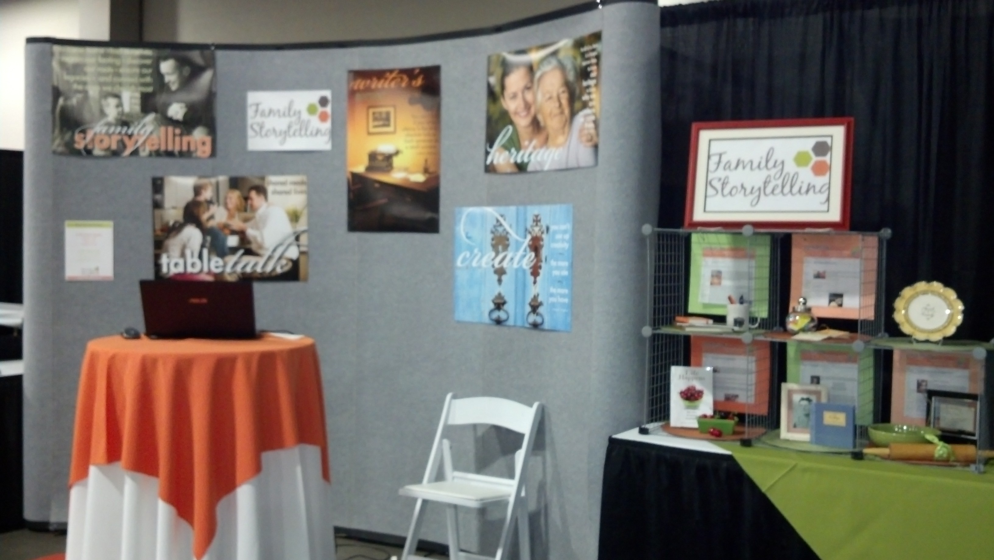 Family Storytelling, RootsTech Booth