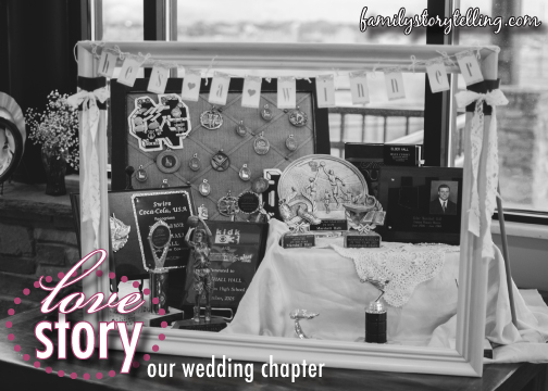 Family Storytelling, Wedding Day, Groom's Display