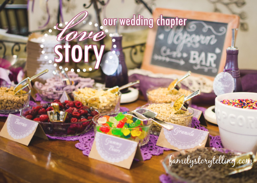 Family Storytelling, Wedding Day, Reception Food