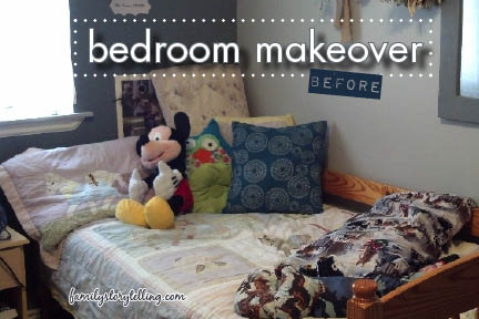 Family Storytelling, DIY Bedroom Makeover, Before
