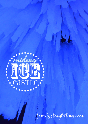 Family Storytelling, Ice Castle, Night