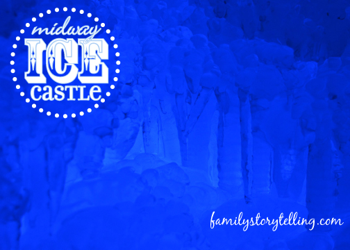 Family Storytelling, Ice Castle, Blue Light