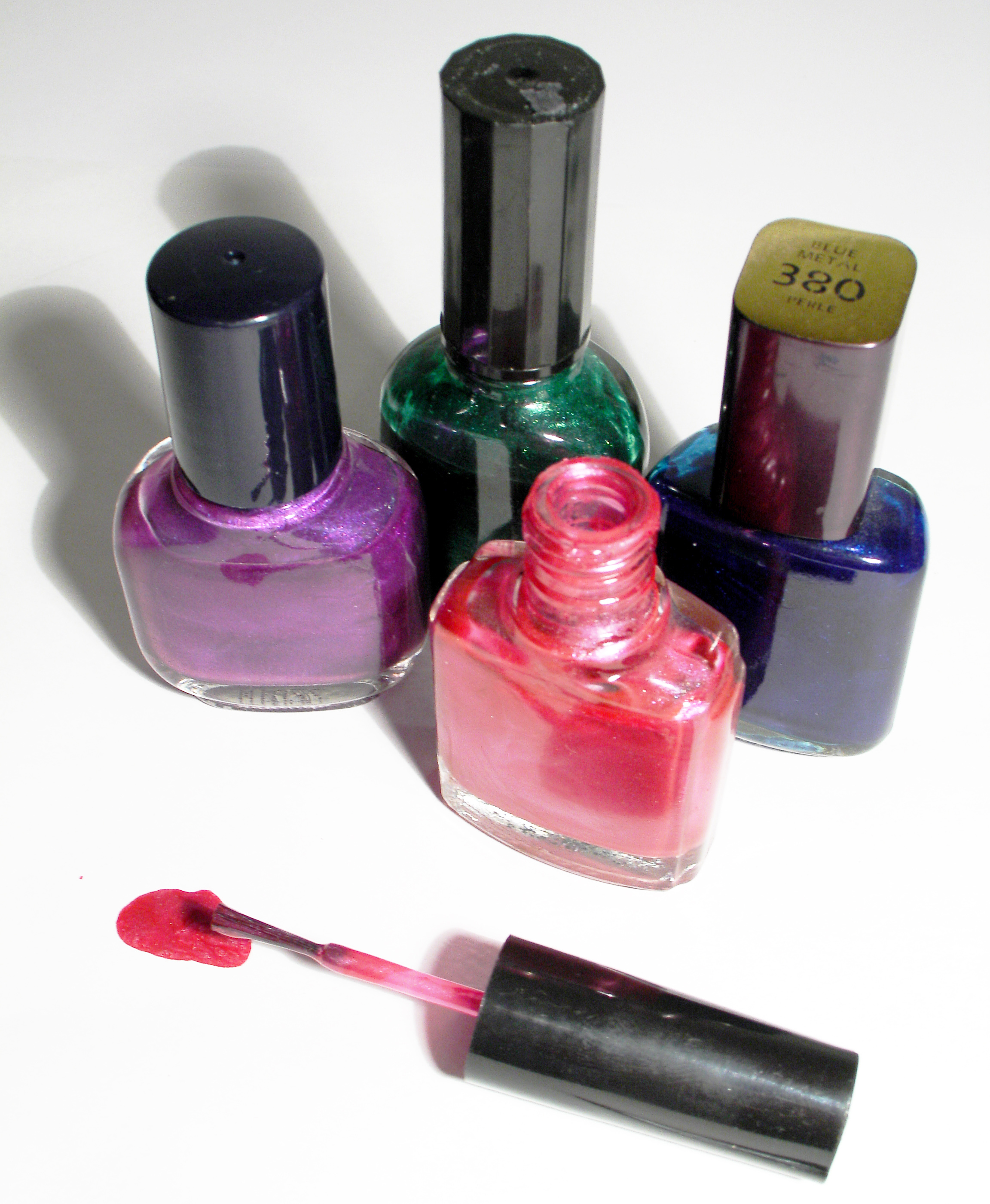 Nail polish bottles family traditions girl's night in