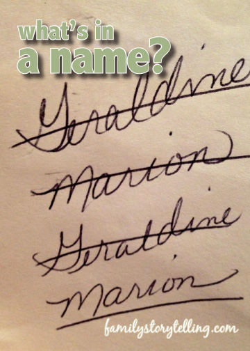 family storytelling tradition choosing a baby name