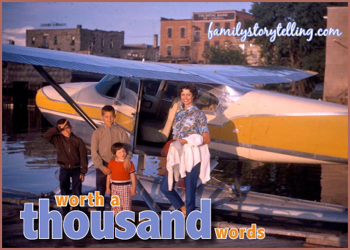 family storytelling photograph airplane family heritage