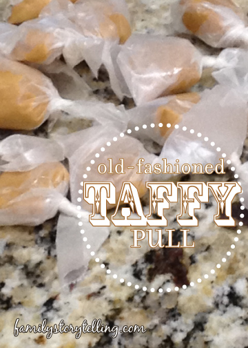 Family Storytelling, Honey Taffy Wrapped Pieces