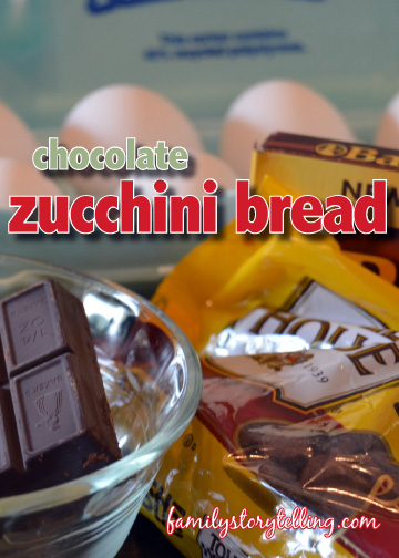 family storytelling chocolate zucchini bread ingredients
